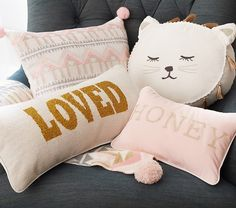 Emily & Meritt for Pottery Barn Kids Decorative Pillows - whimsical, sweet and soft!