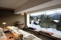 Italy - Veneto   The livingroom at Baita del Capo,Berica Marchiorello's house in Cortina d'Ampezzo