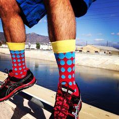 LYF socks are adding color to the LA River.