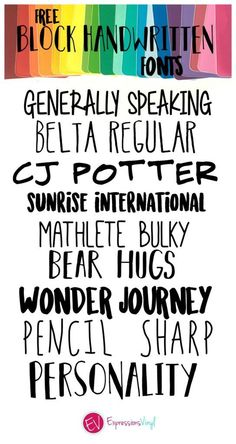 free block handwritten fonts