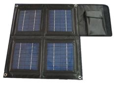SUNPACK 16W Portable / Foldable Solar Charger for Laptops, iPad, iPhone, tablets and other personal gadgets. (include 16 foldable solar panel,12000mAH power bank with 2 x 5V USB port and 16~20V(auto sensing) output, 11 Laptop connectors, 10 DC tips, USB charging cable, AC charging adaptor and a neoprene bag)