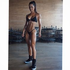 SEXY RIPPED MUSCULAR ATHLETIC DREAM BIKINI BODY of Brazilian #Fitness Model Fernanda D'Avila : if you LOVE Health, Bodybuilding & #Fitspiration - you'll LOVE the #Motivational designs at CageCult Fashion: http://cagecult.com/mma