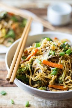 For a healthier version of chow mein, bulk up your noodles with a nutrient boost of fresh vegetables!