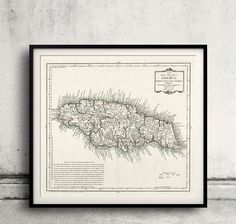 Map of Jamaica - 1780 - FREE SHIPPING - SKU 0265 by PaulMaps on Etsy