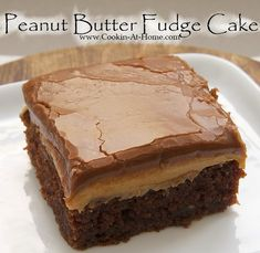 Peanut Butter Fudge Cake..This was pretty yummy and very rich.  Robbie liked it best cold. My family wants me to make it again. 10/10/2017 Cat