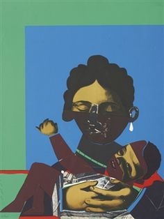 Conspiracy - The Artist as Witness: Mother and Child By Romare Bearden ,1971