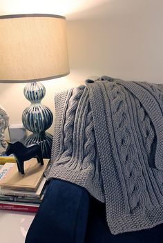 Ravelry: Reversible Cable Chunky Throw pattern by Cynthia Cushing