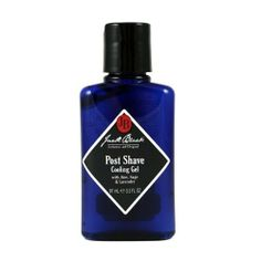 Jack Black Post Shave Cooling Gel 3.3 fl oz by Jack Black. $19.00. This oil-free aftershave treats and calms irritated skin.. This lightweight, non-oily aftershave treatment calms irritated skin and relieves redness while providing serious razor burn relief with aloe, sage and lavander.  Includes aloe, chamomile and witch hazel, natural ingredients known for their soothing and anti-inflammatory properties. Also includes botanicals such as sage, camphor and lavender, kno...