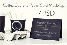 Check out Coffee Cup and Paper Card Mock-Up by Marian Kadlec on Creative Market