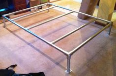 Built my bed out of galvanized steel pipe and rail fittings. Tutorial coming soon!