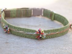 Pistachio Green Breakaway Cat Collar-NEW by CatPomPoms on Etsy