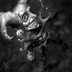 demon art   demonic jester by ~Vespertellino on deviantART Marionette Tattoo, Tattoo Studio, Jester Tattoo, Creepy, Joker Playing Card, Dark Souls Art, Deep Art, Batman, Superman