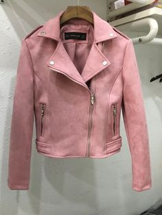 New Fashion Women suede motorcycle jacket Slim brown full lined soft faux Leather female coat veste femme cuir epaulet zipper Girls Fashion Clothes, Winter Fashion Outfits, Crop Top Outfits, Cute Casual Outfits, Winter Jackets Women, Coats For Women, Jackets For Girls, Suede Jacket, Outerwear Women