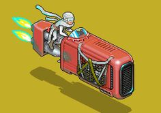 Rey's speeder by Megapont #starwars #isometric #pixelart