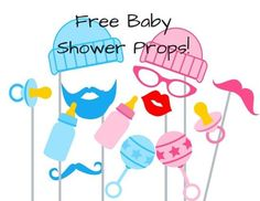 Free baby shower photo booth props printable, instant Download photo Booth prop! Perfect Baby Shower activity ideas, Free Baby Shower Games and many more
