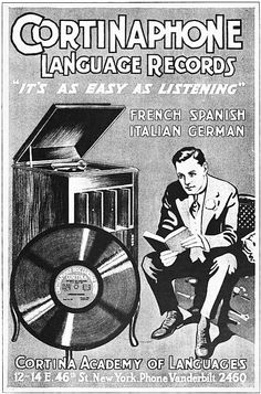 cortinaphone language records 1917 by Captain Geoffrey Spaulding, via Flickr