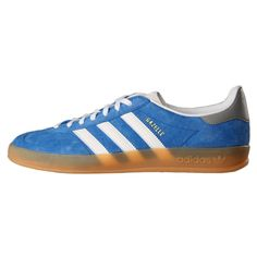 New Mens Adidas Gazelle Indoor Bluebird Blue Composition Leather | eBay