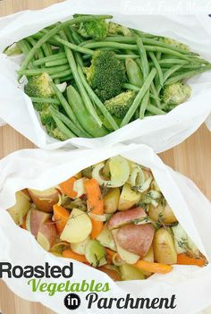 How to Roast Vegetables in Parchment Paper.  These fun bundles will impress and SAVE you time!
