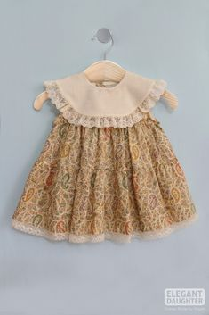 Creamy Dress-Baby Dress - March 02 2019 at Baby Girl Dress Patterns, Little Girl Outfits, Little Girl Dresses, Toddler Outfits, Boy Outfits, Baby Dress, Baby Girl Frocks, Kids Frocks, Baby Girl Fashion
