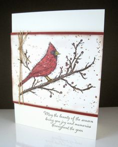 Happily Ever Crafter: Let's GO Cardinals! Beauty of the Season; Stampin' Up!