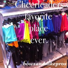 cheerleading~ nike pros. Cassidy loves these <3