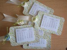 mini calendar tags