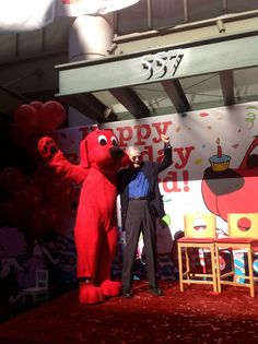 Clifford and his creator, Norman Bridwell! Happy 50 years!