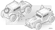 Automobile, Bigball Gao on ArtStation at https://www.artstation.com/artwork/NbVE1