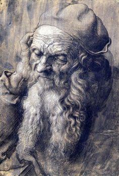 Albrecht Dürer 1471-1528 Study of a Man Aged 93, 1521