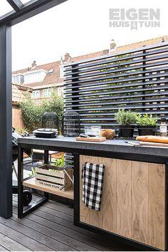 Backyard Kitchen, Outdoor Kitchen Design, Backyard Patio, Kitchen Decor, Rooftop Design, Garden Living, Backyard Makeover, Barbacoa, Outdoor Dining
