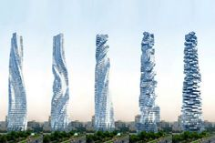 David Fisher designed the 80-storey skyscraper, extending 420m above ground, such that each floor can rotate 360 degrees in both directions