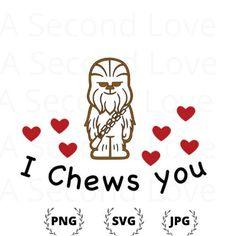 Starwars Valentines Cards, Disney Valentines, Valentines Day Shirts, Valentine Day Cards, Valentine Crafts, Be My Valentine, Chewbacca, Silhouette Designer Edition, Star Wars Stencil