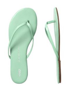 Leather flip flops...love anything mint green!