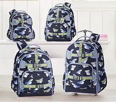 863bb3390d Mackenzie Navy/Blue Tropical Sharks Backpack Preschool Backpack, Toddler  Backpack, Small Backpack,