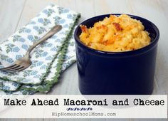 A creamy macaroni and cheese recipe with a crunchy topping is a favorite meal that's scaled to provide two meals—one for now, and one to freeze for later. Make Ahead Macaroni And Cheese Recipe, Creamy Macaroni And Cheese, Mac And Cheese, Make Ahead Freezer Meals, Frugal Meals, Freezer Cooking, Work Meals, 9x13 Baking Dish, Cheese Recipes