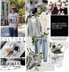 """""""Street Stle in YSL [ Grey ]"""" by zzia on Polyvore"""