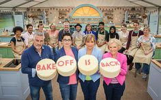 Paul Hollywood, Sue Perkins, Mel Giedroyc, Mary Berry and The Great British Bake Off contestants