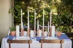 How to Create an Elegant Shweshwe Wedding by Piteira Photography & SouthBound Bride Wedding Decorations, Wedding Ideas, Things To Think About, Table Settings, Candles, Bride, Elegant, Create, Traditional Weddings