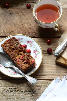 Paleo Cranberry Pecan Loaf from @AnEdibleMosaic