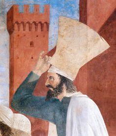 PIERO DELLA FRANCESCA - (1415 - 1492) | Exaltation of Cross (detail). Fresco. Basilica di San Francesco, Arezzo,Italy.