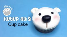 HOMEMADE - KUTUP AYISI CUP CAKE NASIL YAPILIR - HOW TO MAKE POLAR BEAR C...