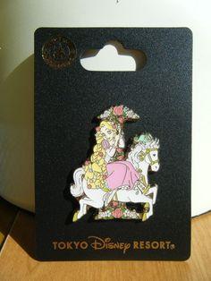Disney Japan Tokyo TDL 2015 Tangled Rapunzel on Carousel pin NOC