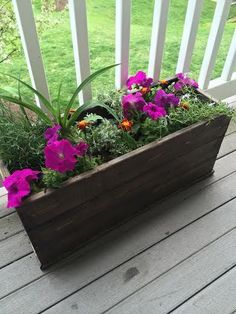 Affordable Planter Box / We were looking for an affordable way to make a wood planter since buying a basic wood planter starts at $45./ Instructables.com #woodworking #gardening