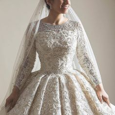 Discover recipes, home ideas, style inspiration and other ideas to try. Muslim Wedding Gown, Wedding Dress Organza, Muslim Wedding Dresses, Weeding Dress, Wedding Dress Sleeves, Princess Wedding Dresses, Dream Wedding Dresses, Bridal Dresses, Muslim Brides