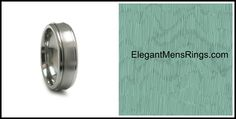 Grey Titanium Ring- Wedding Band- A Classic Look