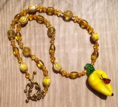 Mellow Yellow Fruity necklace & earring set  SOLD!