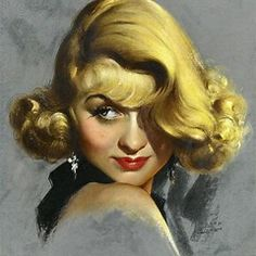 Portrait of Constance Bennett, pastel on board x in. by Marland Stone Constance Bennett, Joan Bennett, Vintage Movies, Vintage Art, Vintage Woman, Classic Hollywood, Old Hollywood, Pinup, Rolf Armstrong