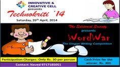 Slogan Writing Competition @ Technokriti'14