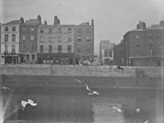 View of Ormond Quay Lower and Swifts Row, taken from Wellington Quay, view includes Mangans Furniture Warerooms and Ormond Printing Works Ireland Pictures, Images Of Ireland, Old Pictures, Old Photos, Vintage Photos, Dublin Street, Dublin City, Photo Engraving, Digital Archives