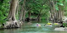 Tubing the Frio River in Texas.